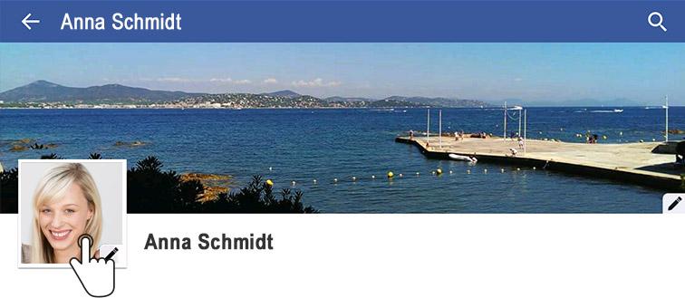 Um das Profilbild zu ändern, auf das aktuelle Foto tippen. | Foto: Screenshot