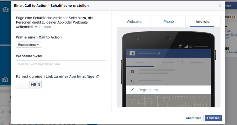 Android-Link eingeben | Bild: Screenshot