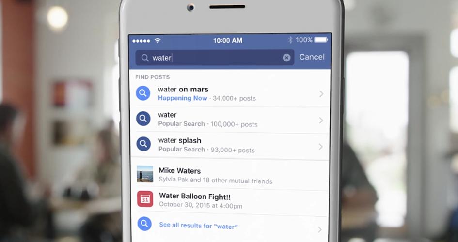 Facebooks neue Suchfunktion nennt sich Search FYI