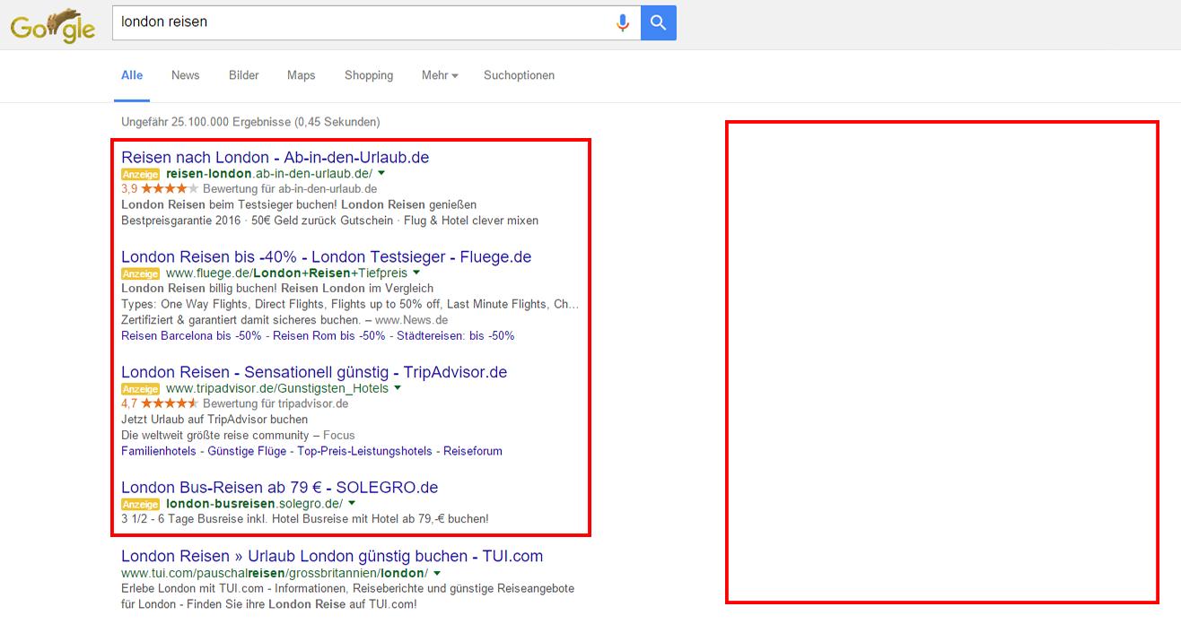 Google strukturiert die Werbeanzeigen um