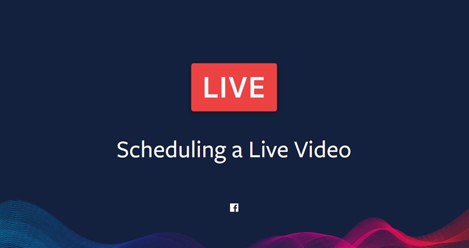 Live-Videos jetzt planen
