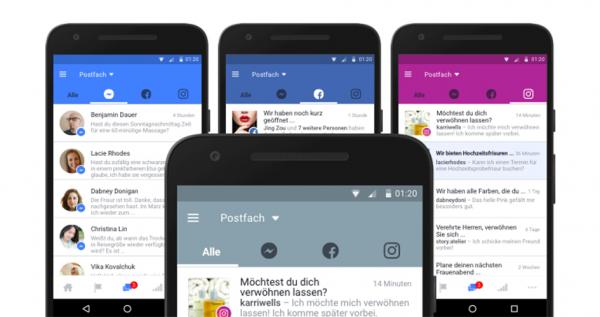 Drei Kanäle in einem Postfach? So will Facebook den Seitenbetreibern zukünftig die Kommunikation mit den Kunden erleichtern.