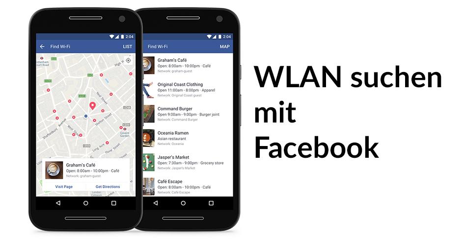 WLAN suchen mit Facebook